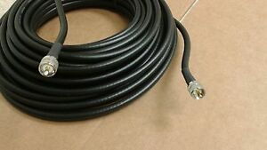 US MADE  LMR-240  Ham Radio  Antenna PL259 to PL259  50 ohm coax cable  65  FT