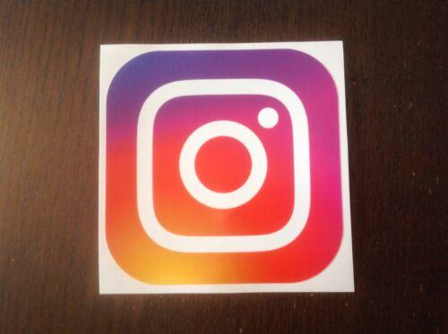 12 cm Instagram Printed Full Colour Autocollants Car Van Business Social Media Décalque