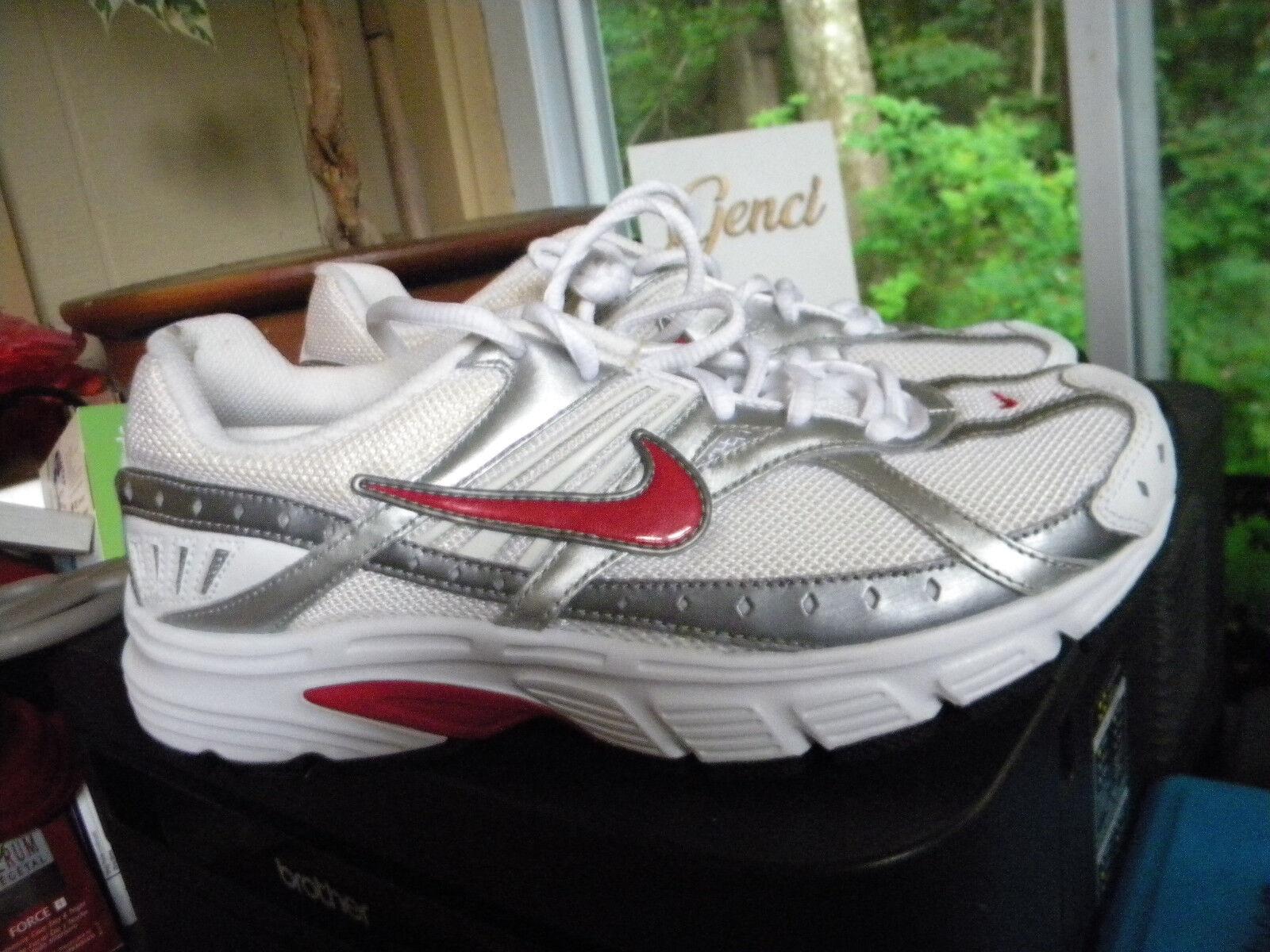 NIKE AIR Downshifter II Sz 8.5 Women's Running Shoes, Wht/Slvr Sz 8