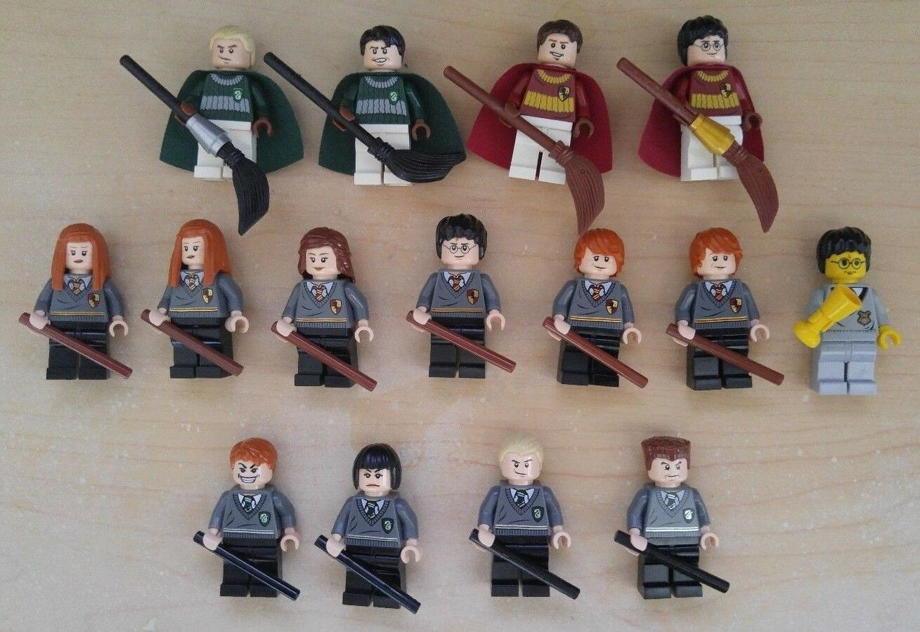 LEGO HARRY POTTER MINIFIG LOT  Harry Ron Hermione Ginny Draco Quidditch Etc