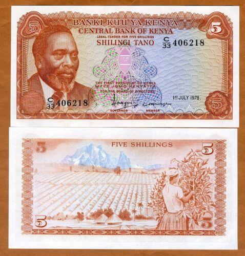Kenya P-15 UNC 1978 5 Shillings