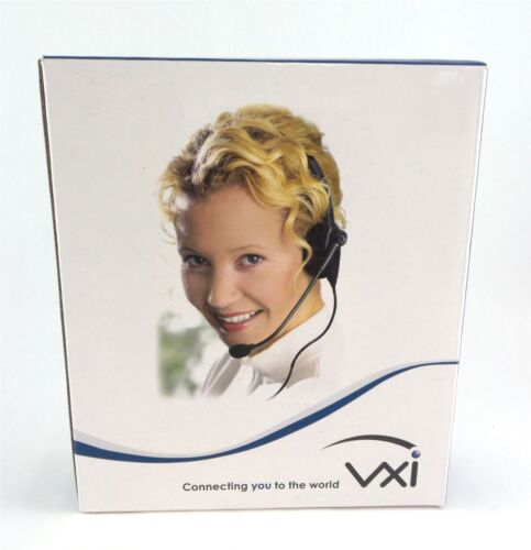 Vxi Tria-V DC Convertible Monaural Single Wire Headset with Mic 202786 Black New