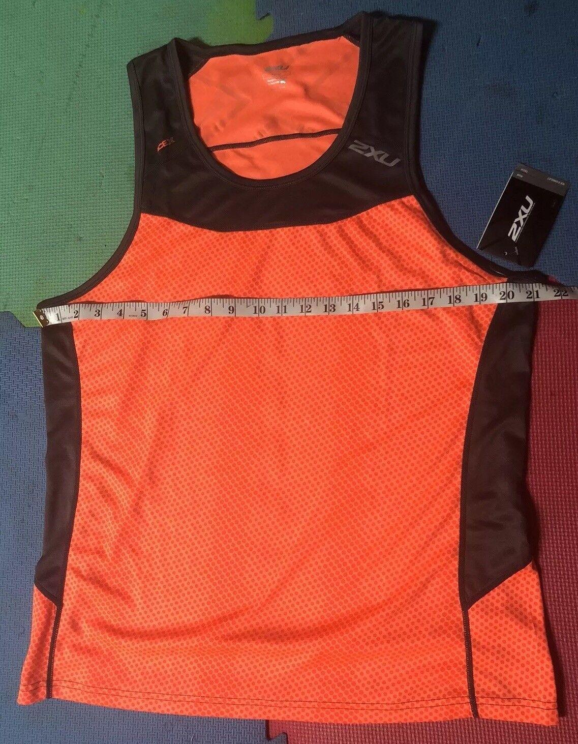 2XU Ice X Running Tank Singlet Size XL Bright orange