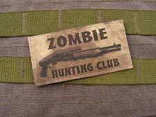 SNAKE PATCH - ZOMBIE HUNTING CLUB - ATAC SPAS 12 airsoft WALKING DEAD evil