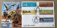 COMMONWEALTH GAMES 2002 BRADBURY FDC MANCHESTER H/S SIGNED BY SUE BARKER