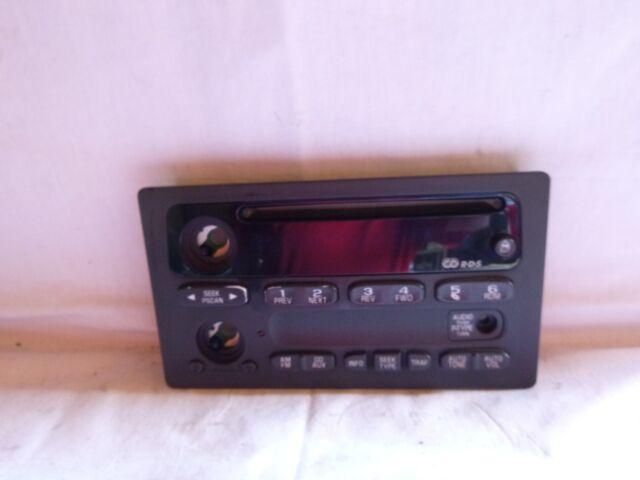02 03 Chevrolet Trailblazer Gmc Envoy Radio Cd Face Plate 15195521