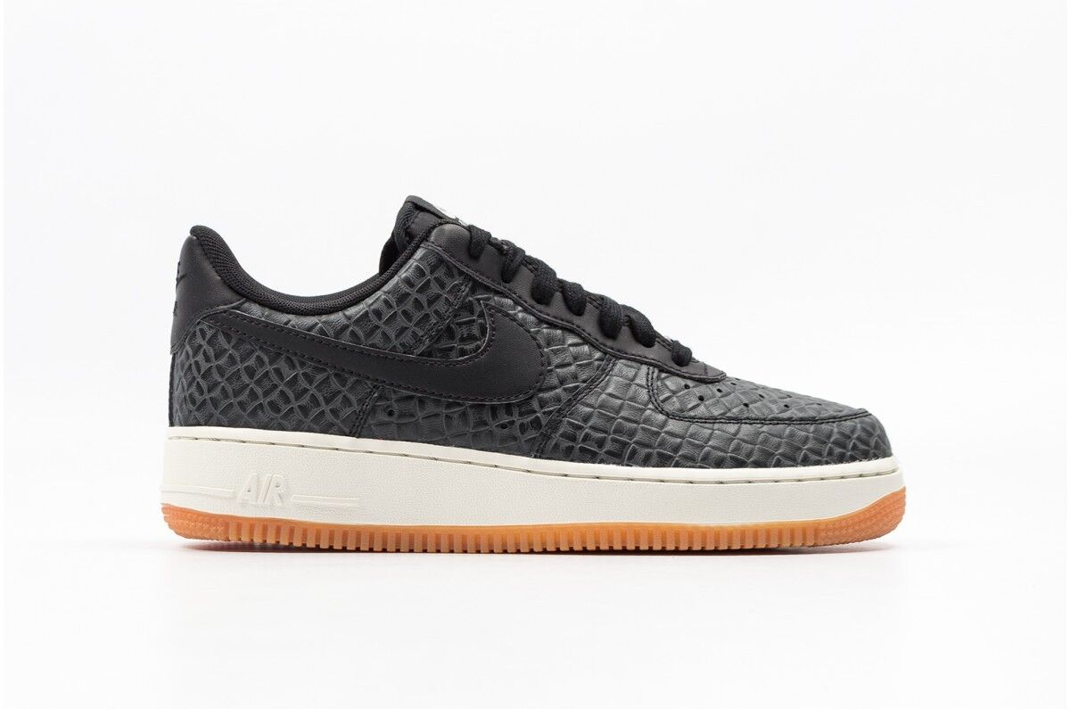 Women's Nike Air Force 1 '07 PRM Shoe!!BLACK/BLACK/SAIL/GUM MED BROWN Cheap and beautiful fashion
