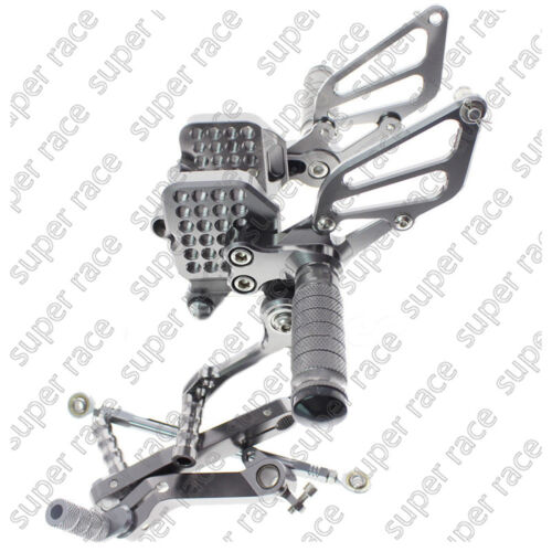 Adjustable CNC Rearsets Footpeg Pedal Footrest For Ducati 999 749 all years Gray
