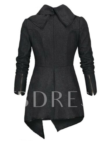 Coat Asymmetrical Lapel Hemline Wrapped Women's Trench w0x0XB8Hn