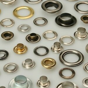 Pack of Two Prym Eyelets with Washers 14mm Brass Silver