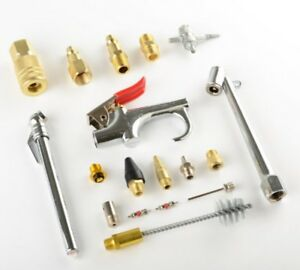 New-18pc-Air-Tool-Compressor-Blow-Gun-Chuck-Pneumatic-Accessory-Accessories-Kit