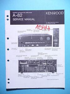 SERVIZIO-Manuale-di-istruzioni-per-Kenwood-A-82-ORIGINALE