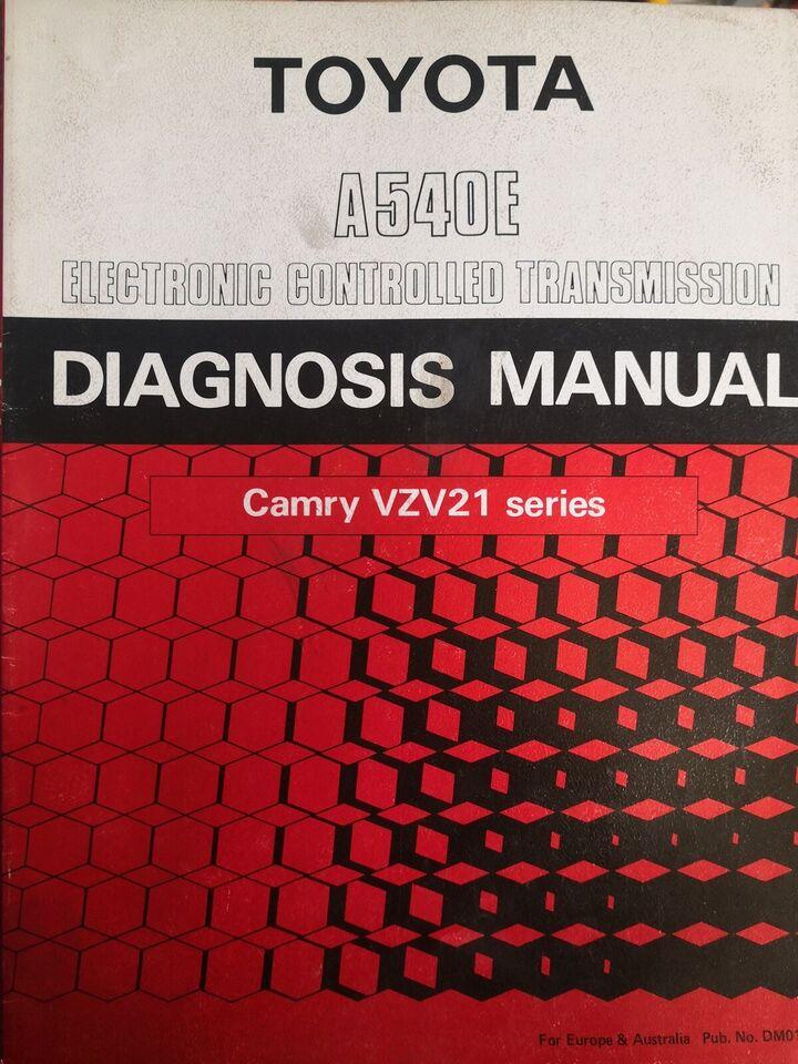 Gearkasse diagnose bog, Camry VZV21 SERIE