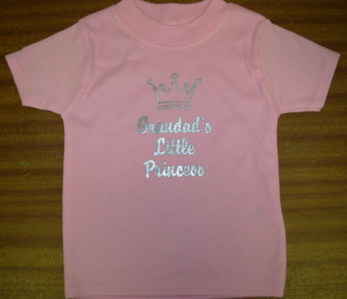 "6-12m 12-18m Baby Girls /""Little Princess/"" T-Shirt Choose Relation 0-3mt 3-6m"