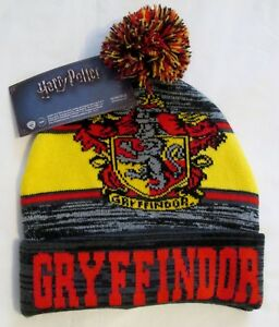 9d382fec09029 NWT Harry Potter GRYFFINDOR winter Hat Beanie Cap adult 190371623998 ...