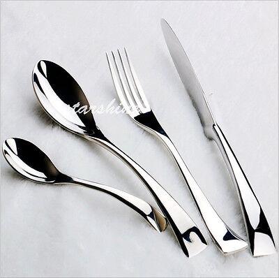 24 pieces Stainless Steel Cutlery Set Knives Fork Spoon Teaspoon Dinnerware
