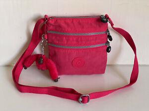 NEW-KIPLING-ALVAR-XS-NEON-PINK-RED-MINI-CROSSBODY-SLING-SHOULDER-BAG-PURSE-SALE