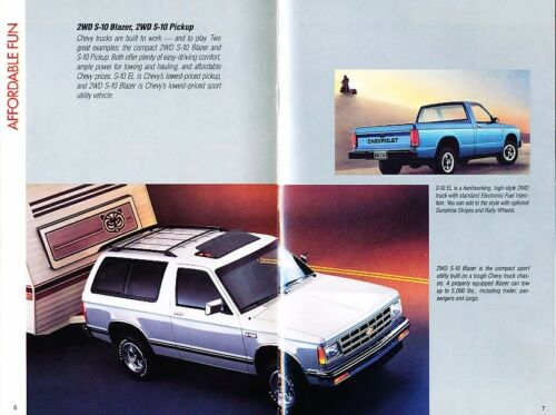 1988 Chevrolet Brochure Catalog Camaro Caprice Corvette Cavalier Truck Van