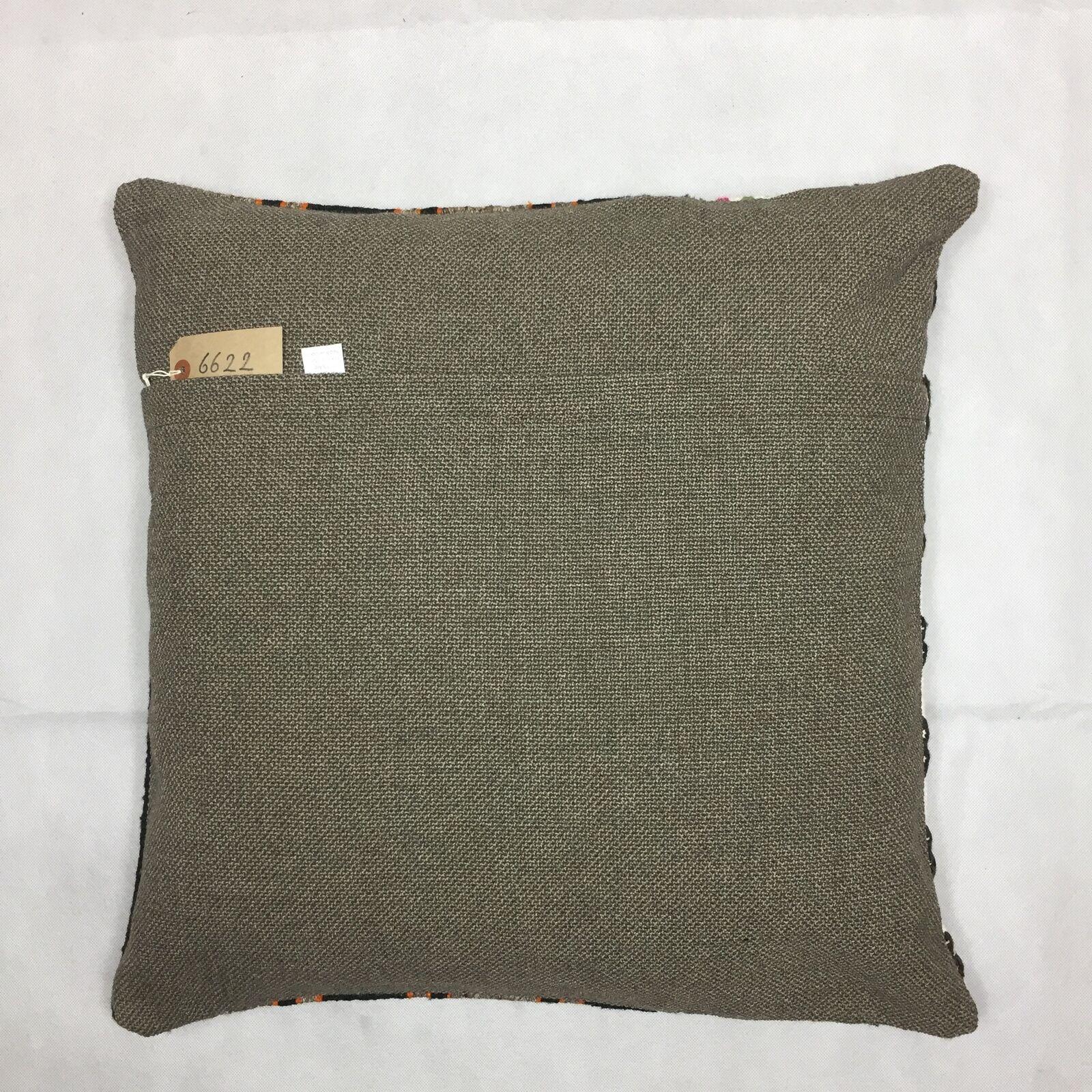 Kilim Coussin Couverture, Kelim 60x60cm, Coussin 60x60cm, Kelim 24 pouces, Kilim Floor Cushion 5461f0