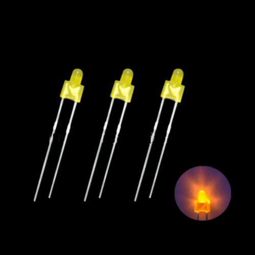 30pcs Blue//Green//Red//Yellow 2mm nipple DIP LED Lamp Light Emitting Diode Lamp