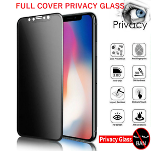 Privacy Tempered Glass Screen Protector iPhone 5 6 7 8 X SE 11 XR XS 12 13 PRO