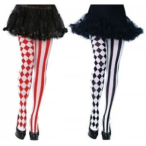 8fbb0e80f4660 Harlequin Tights Adult Womens Halloween Costume Pantyhose | eBay