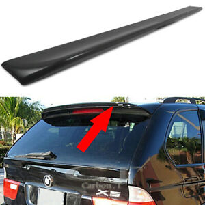 EURO Style Unpainted ABS Boot Lip Rear Spoiler Wing Add On Deck Lid By IKON MOTORSPORTS Trunk Spoiler Compatible With 2000-2006 BMW E53 X5 2001 2002 2003 2004 2005