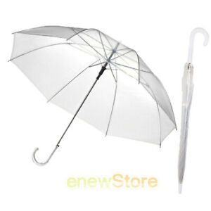 """Lot of 12-46/"""" Arc Clear Dome Style with Butterflies Umbrella RainStoppers"""