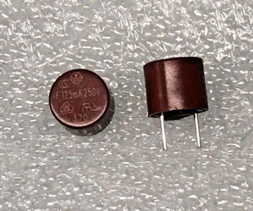 x2 Littelfuse Wickmann 37001250410 T5 Fast-Acting Sub-Mini Fuse PCB 125mA 250 V