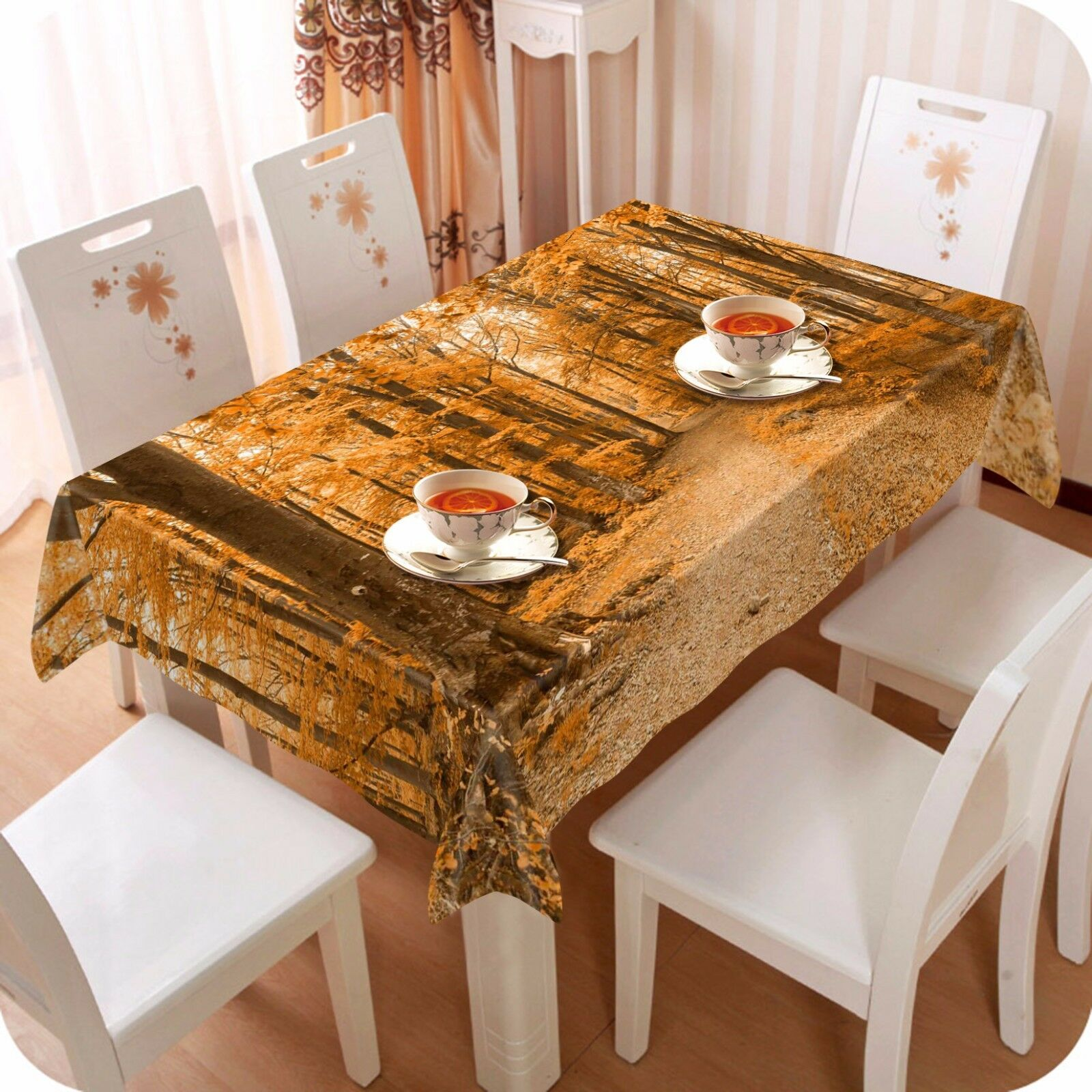 3D Autumn 4718 Tablecloth Table Cover Cloth Birthday Party Event AJ WALLPAPER AU