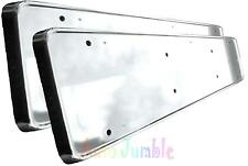 MAZDA MX5 x2 ABS chrome CAR number plate surrounds holder frames LICENCE TRIM