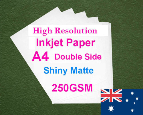 30 sheets A4 250GSM Inkjet Double Side Shiny Matte Photo Paper