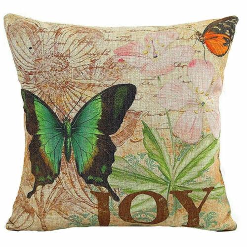 Vintage papillon & fleur décoration d'intérieur Coton Lin