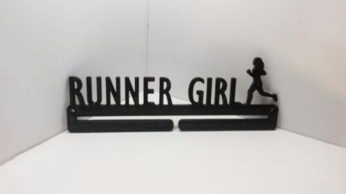 RACE MEDAL DISPLAY RACK HOLDER HANGER RUNNER GIRL 5K 10K HALF MARATHON