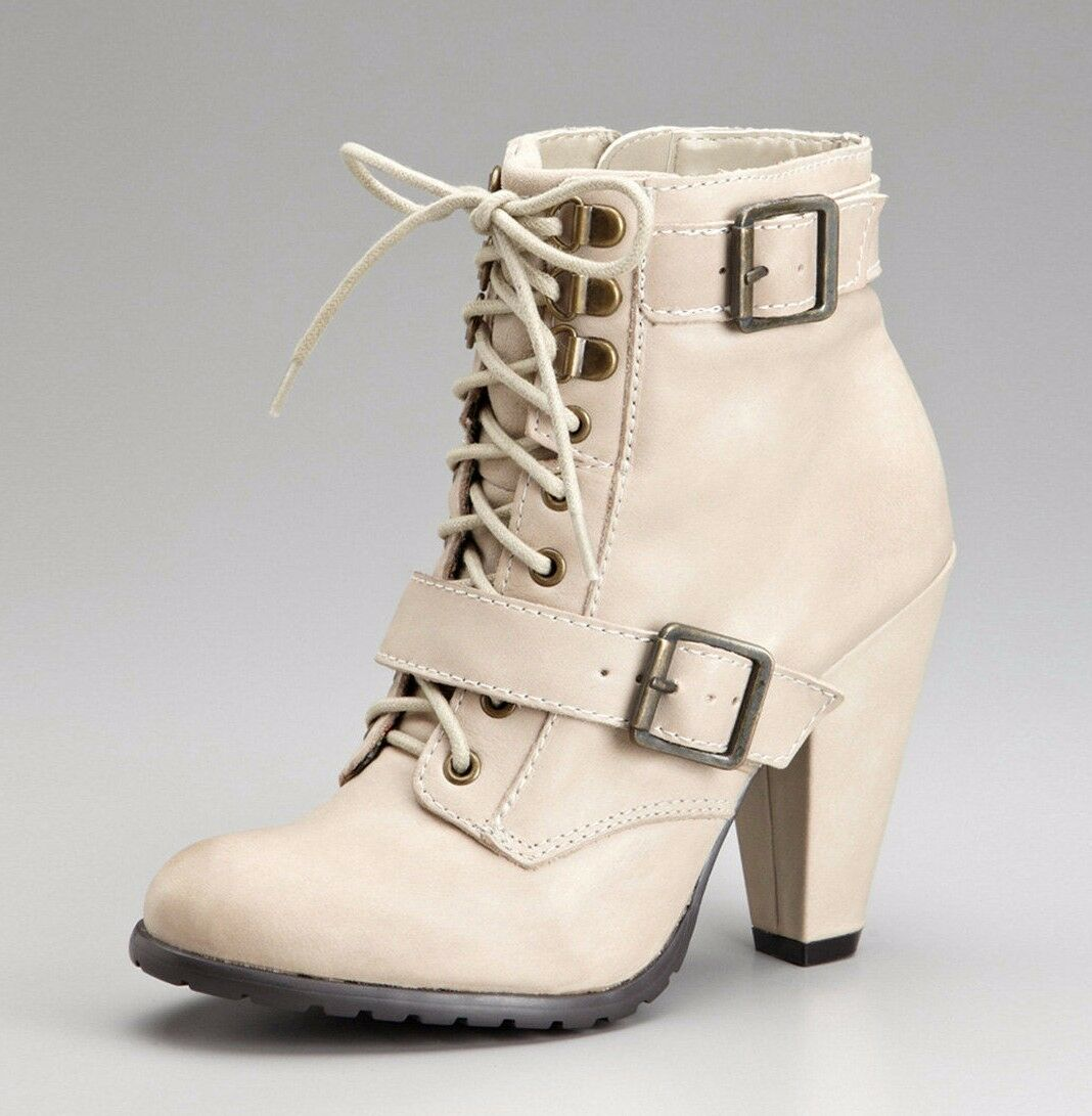 SEYCHELLES Schuhe ROMANCE LACE UP BOOTIES LEATHER ANKLE Stiefel HEELS MUSHROOM LEATHER BOOTIES 8 17f293