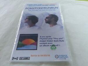 """PONY PONY RUN RUN - VOYAGE VOYAGE!!DIF!!!PLV / DISPLAY 14 X 25 CM - France - Commentaires du vendeur : """"VOIR LA DESCRIPTION - SEE DESCRIPTION"""" - France"""