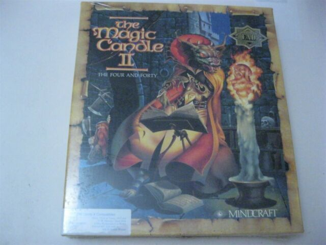 The Magic Candle II The Four and Forty new sealed PC game 5.25' disk Mindcraft
