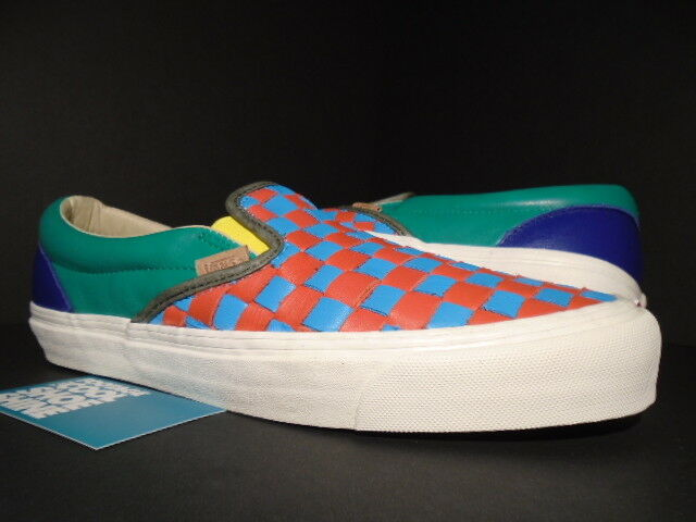 130e6a7d4 VANS OG Classic Slip-on LX Woven Leather 50th Checkerboard Multicolor WTAPS  9.5 for sale online | eBay