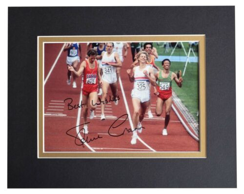Steve Cram Signed Autograph 10x8 photo display Olympic Athletics AFTAL COA