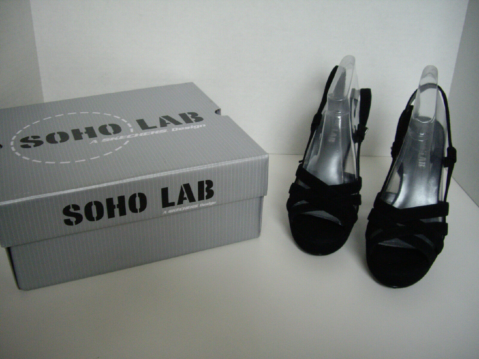 NIB, SOHO Lab, Zoe High Heel Shoes, Size 7, Velvet Black Velvet 7, 49a1da