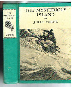 The-Mysterious-Island-by-Jules-Verne-N-C-Wyeth-1918-Rare-Vintage-Book