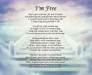 I'M FREE PRAYER PERSONALIZED ART POEM MEMORY GIFT   eBay