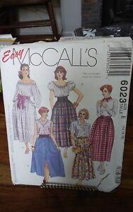 Oop-Mccalls-6023-misses-peasant-skirt-variations-sz-14-18-NEW