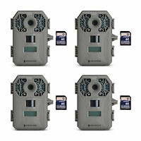 Stealth Cam G30 8mp Infrared Scouting Game Trail Cameras (4 Pack) + Sd Cards on sale