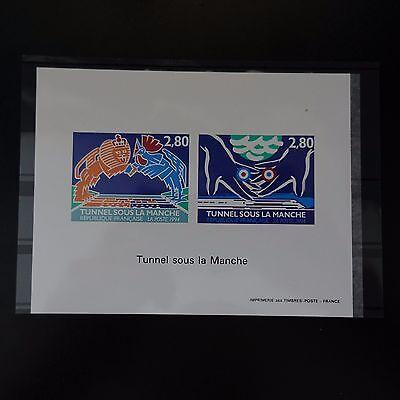 Europa 2880/2881 Der Tunnel Unter Dem Arm 1994 Non Dentelé Einfach Zu Schmieren Briefmarken Épreuve Block Gummiert Nr
