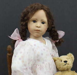 HEIDI-PLUSCZOK-ARTIST-DOLL-with-TEDDY-BEAR