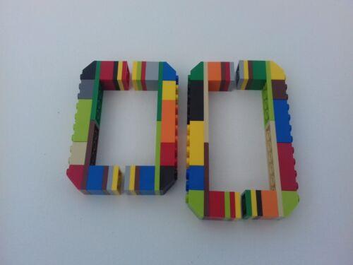 MULTI-COLOURED LEGO DRAW CABINET HANDLES - 9.5cm & 8cm CENTRES - KIDS BEDROOM