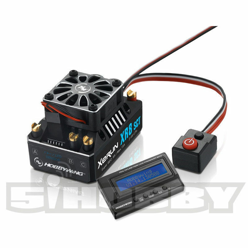 Hobbywing xr8 sct 140a sensGoldt brstenlose esc geschwindigkeitsregler und lcd - programm - box