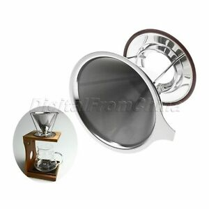 Mesh-Pour-Over-Cone-Dripper-Coffee-Filter-Stainless-Steel-Cup-Stand-Tea-Strainer