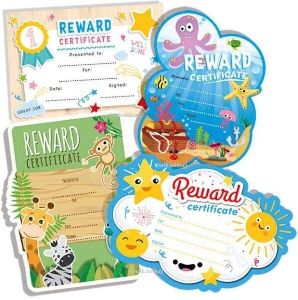 12x A4 Ricompensa I Certificati Di Design Colorato Assortiti Bambini Insegnante Di Scuola Materna